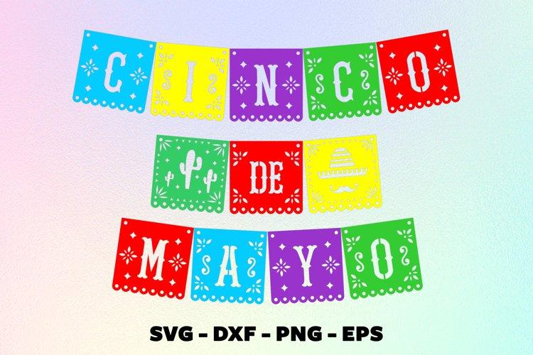 Cinco de mayo banner svg Papel picado svg Banner fiesta svg