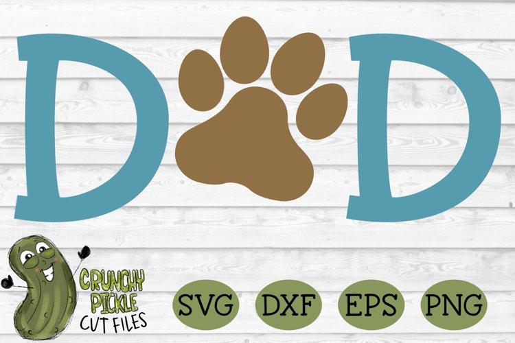 Dog Dad Paw SVG example 2
