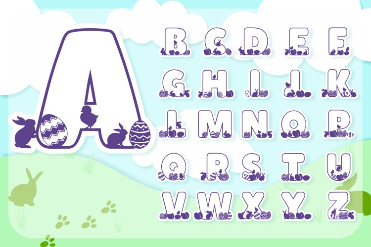 Easter Joy Font Pack   Easter Font for Cricut & Cameo example image 1