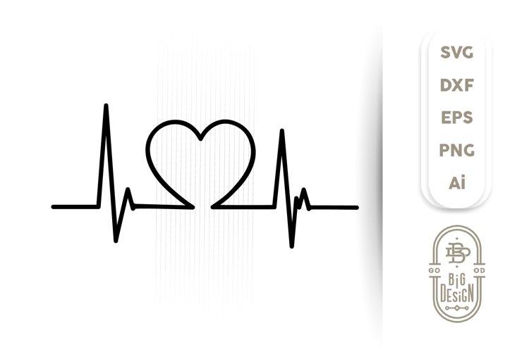 Heartbeat Pulse SVG / Heart Beat SVG , Nurse SVG File example image 1