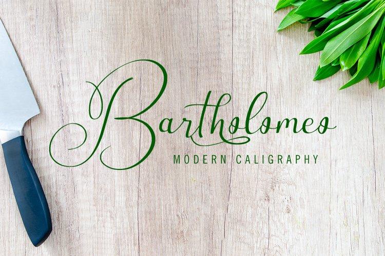 Bartholomeo - Modern Calligraphy example image 1