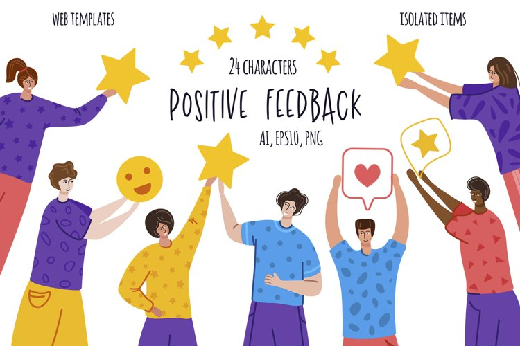 Positive Feedback - vector pack example image 1