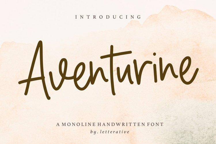 Aventurine Monoline Handwritten Font example image 1