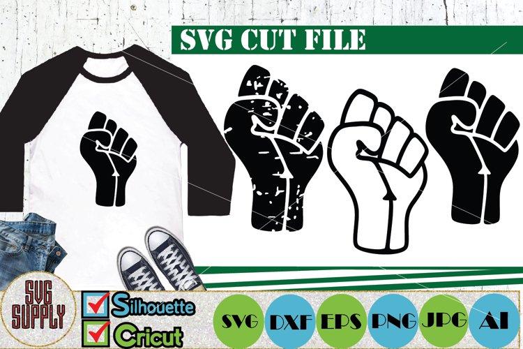 Raised Fist SVG Cut File