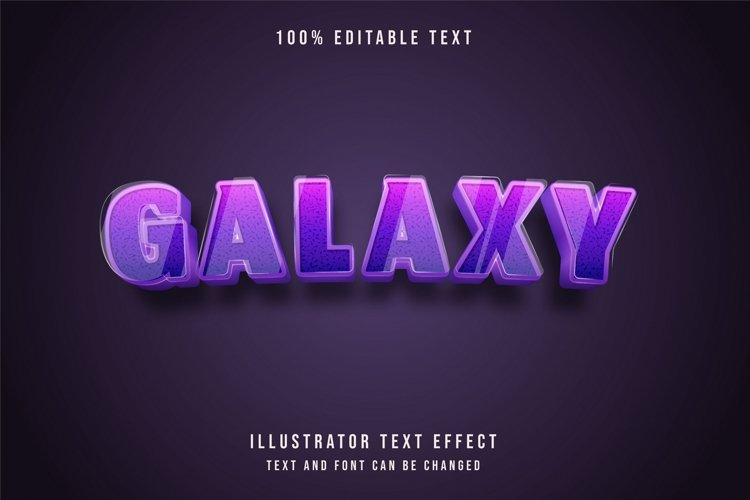 Galaxy - Text Effect example image 1