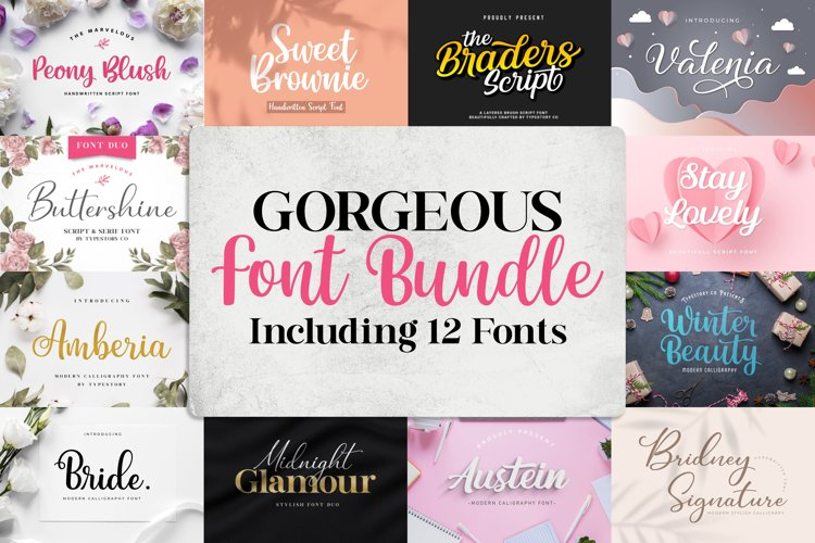 Gorgeous Font Bundle by Letterflow