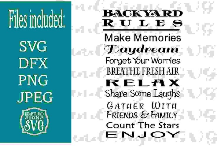Backyard Rules SVG