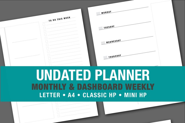 Minimalist Simple Undated Planner example image 1