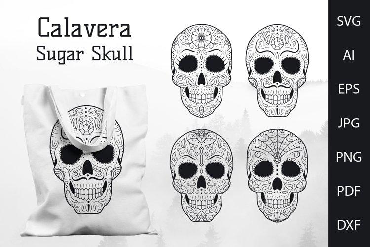Calavera svg, sugar skull svg, mexican skull