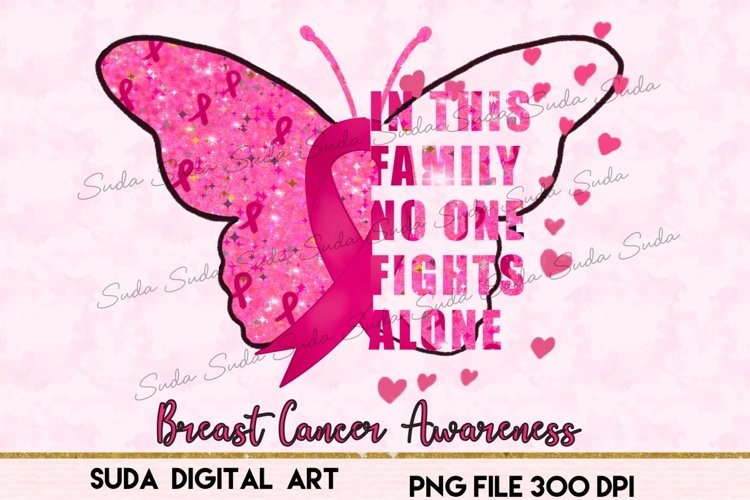 Breast Cancer Butterfly Sublimation, pink ribbon clipart