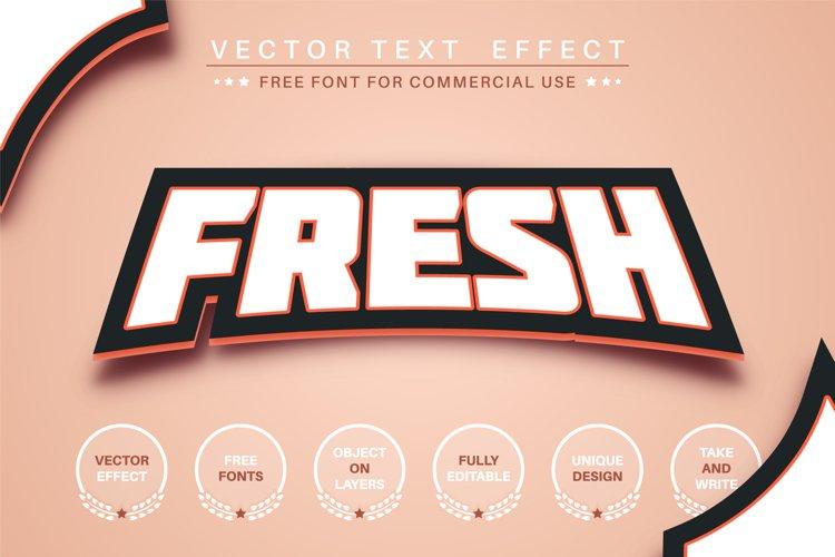 Fresh sticker - editable text effect, font style