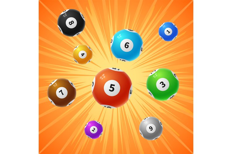 Bingo lottery balls 3d gambling vector background example image 1