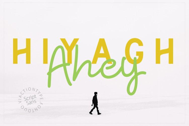 Hiyagh Ahey - Couple Fonts example image 1