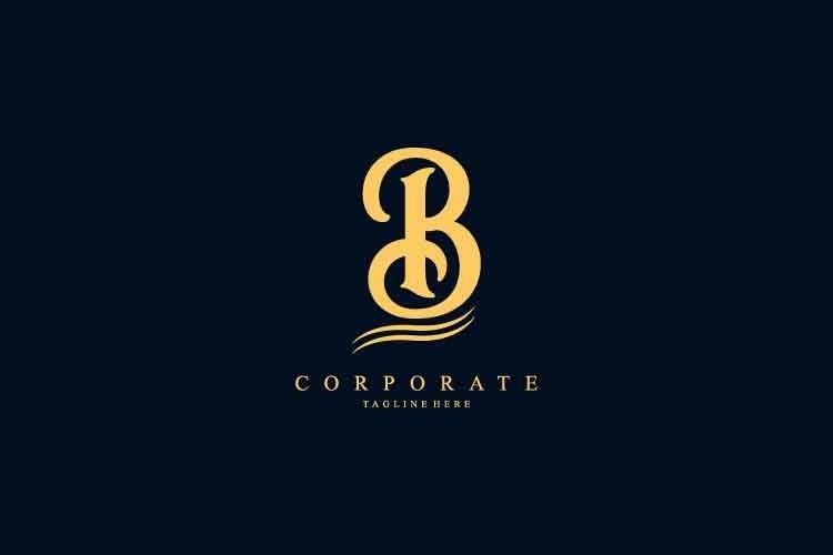 B initial logo corporate. B letter logo 9