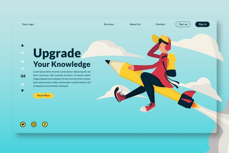 Upgrade Your Knowledge Landing Page example image 1