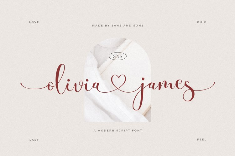 Olivia James - Modern Chic Font