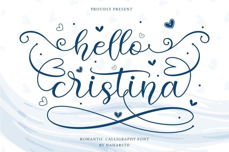 Hello Cristina - Romantic Calligraphy Font example image 1