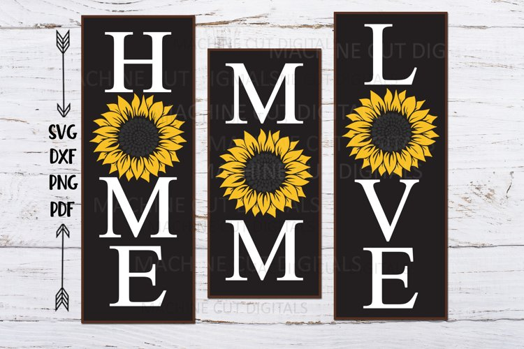 Mom Love Home sunflower Mothers Day signs svg cutting file example image 1