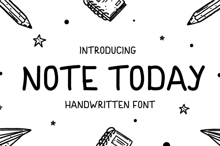 Note Today - Handwritten Font example image 1