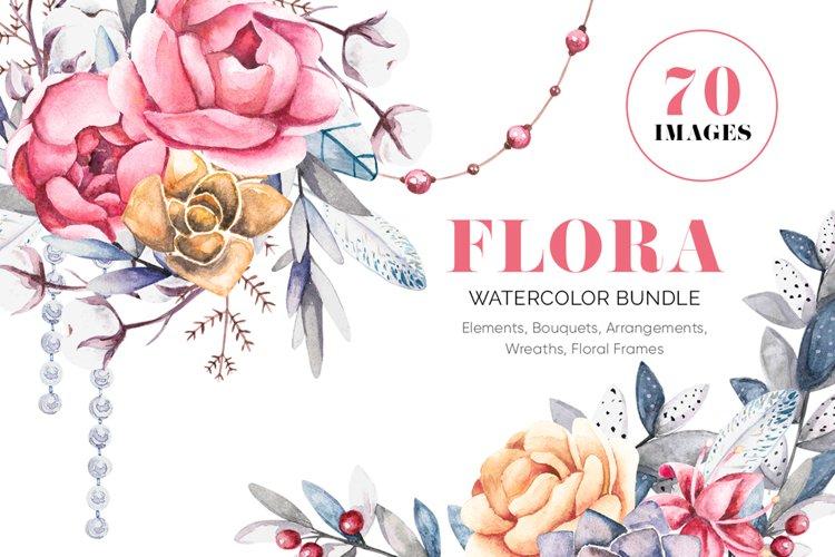 FLORA - Pretty Pions & Succulents Bundle example image 1