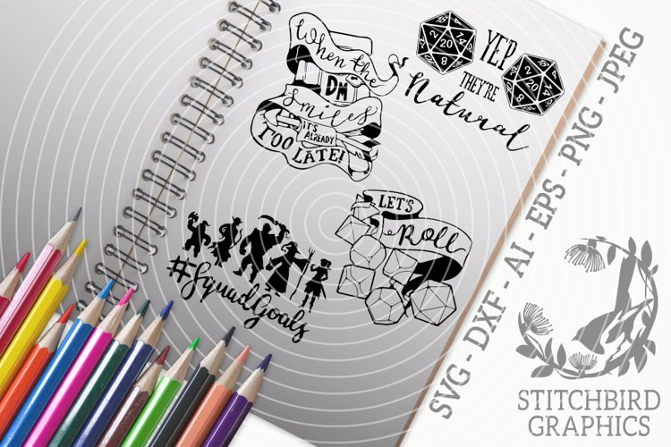 Roleplaying Quotes Bundle SVG, Silhouette Studio, Cricut