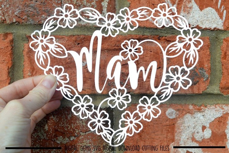 Mam paper cut SVG / DXF / EPS files example image 1