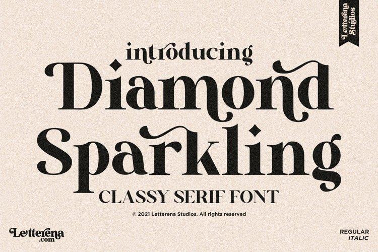 Diamond Sparkling - Classy Serif Font example image 1
