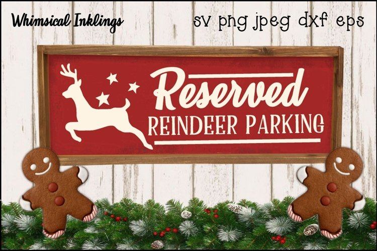 Reindeer Parking SVG example image 1