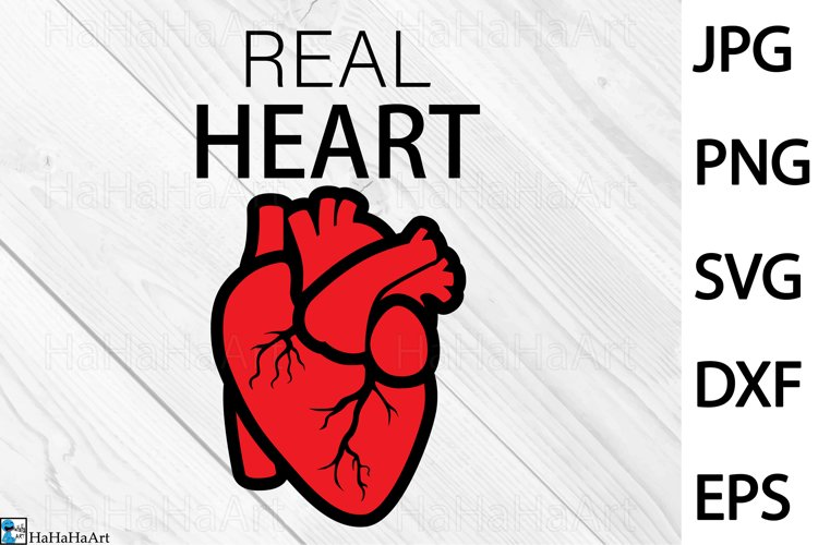 Real Heart Design - Clip art / Cutting Files 1348c example image 1