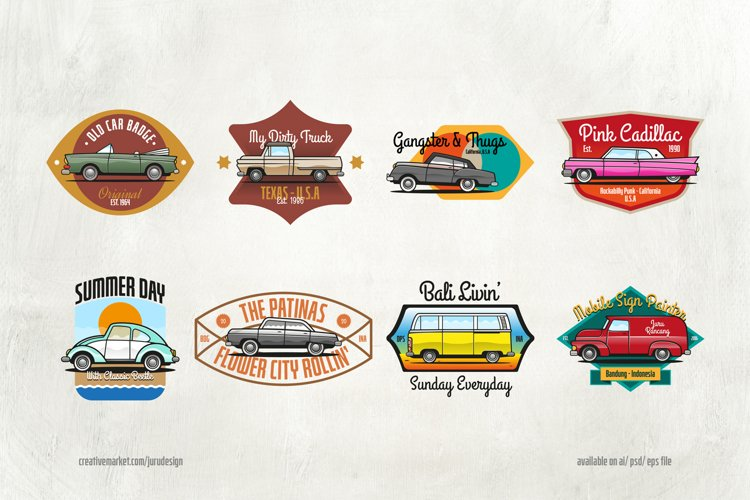 8 Classic Cars & Badges example image 1