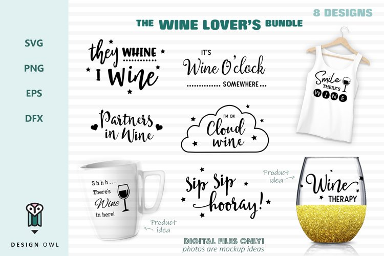 Wine lovers bundle - SVG files