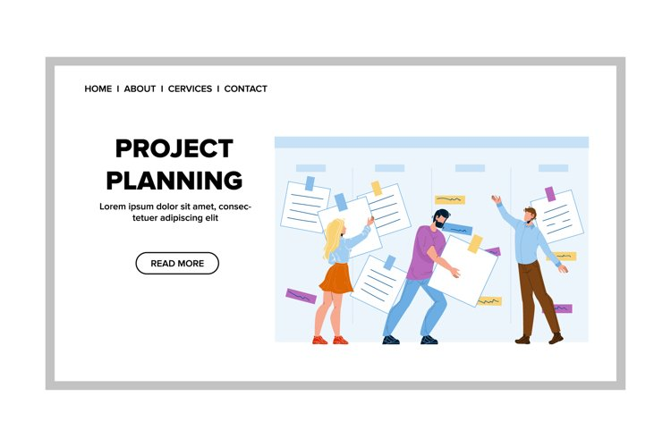 Project Planning And Team Working Strategy Vector example image 1
