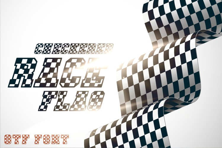 Checkered Race Font Racing OTF example image 1