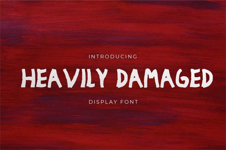 Heavily Damaged - Display Font example image 1