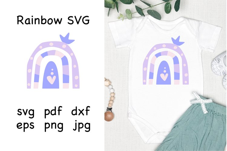 Rainbow Baby SVG. Baby Bodysuit SVG. Baby SVG. example image 1