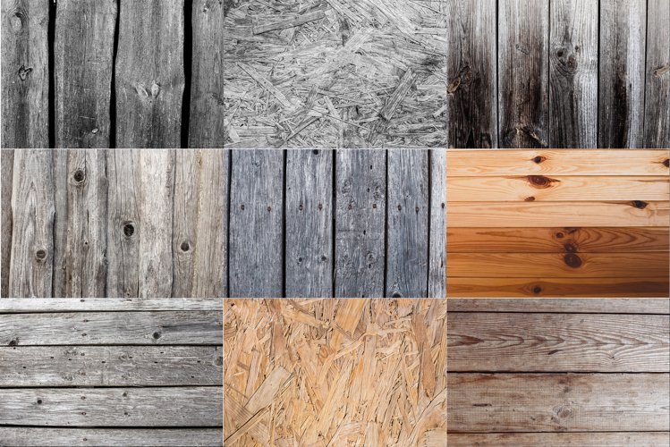 Wood background bundle. Rustic old Wooden texture.