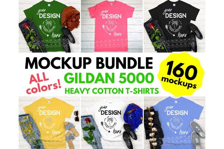 Gildan 5000 Mockup Bundle - Gildan Heavy Cotton T-shirts example image 1