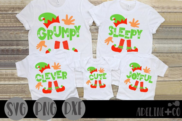 Matching elf Christmas shirts, family, SVG, PNG, DXF