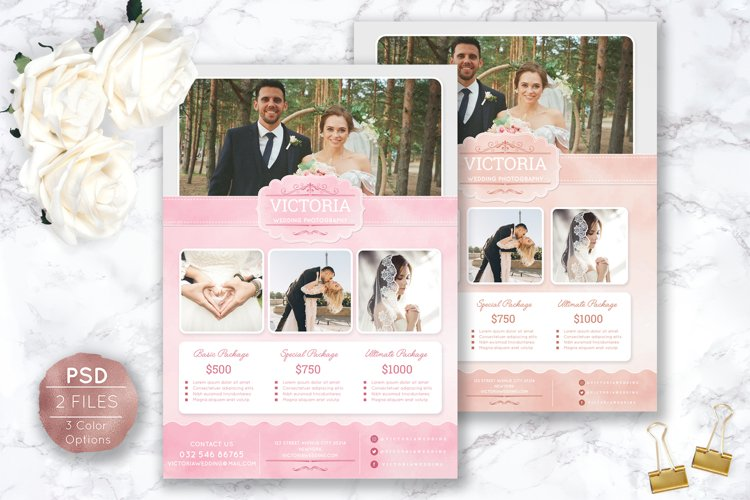 Soft Watercolor Wedding Photography Flyer example image 1