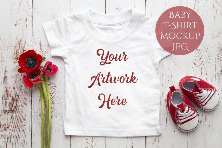 Onesie, Infant T-Shirt Mockup example image 1