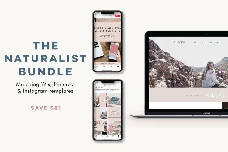 The Naturalist Bundle   Wix Website   Social Templates example image 1