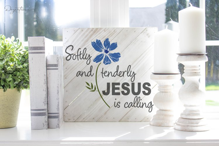 Softly and Tenderly Jesus is calling Christian SVG | DXF example image 1