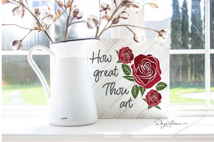 How Great Thou Art Christian SVG | DXF example image 1