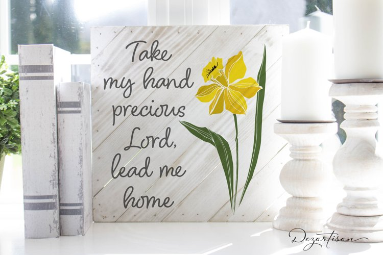 Take My Hand Precious Lord Lead me Home Christian SVG | DXF example image 1