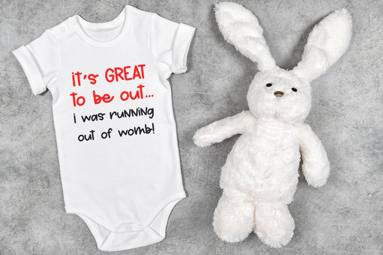 Running out of womb SVG|DXF Cut File for Cricut and Silhouet example image 1