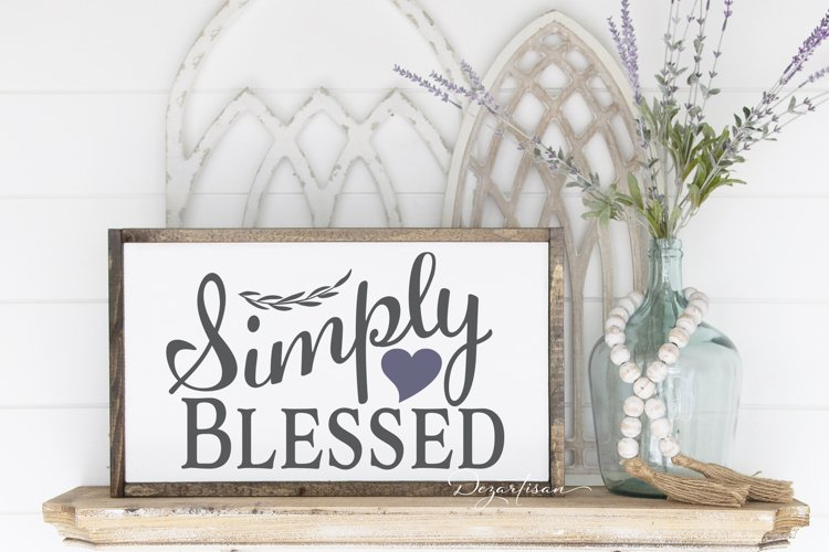 Simply Blessed SVG|DXF Cut File for Cricut and Silhouette example image 1