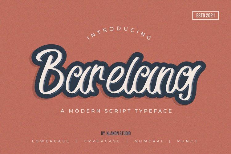 Barelang - A Modern Script Typeface example image 1