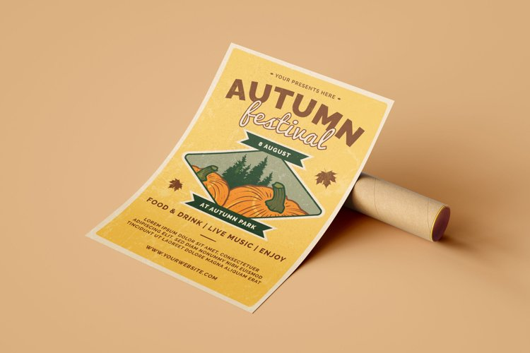 Retro Autumn Festival- Flyer Poster example image 1