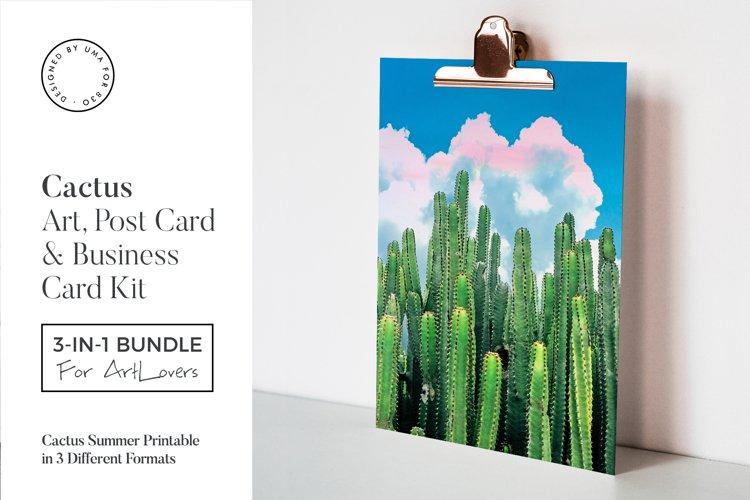 Cactus Summer Art & Stationary Kit