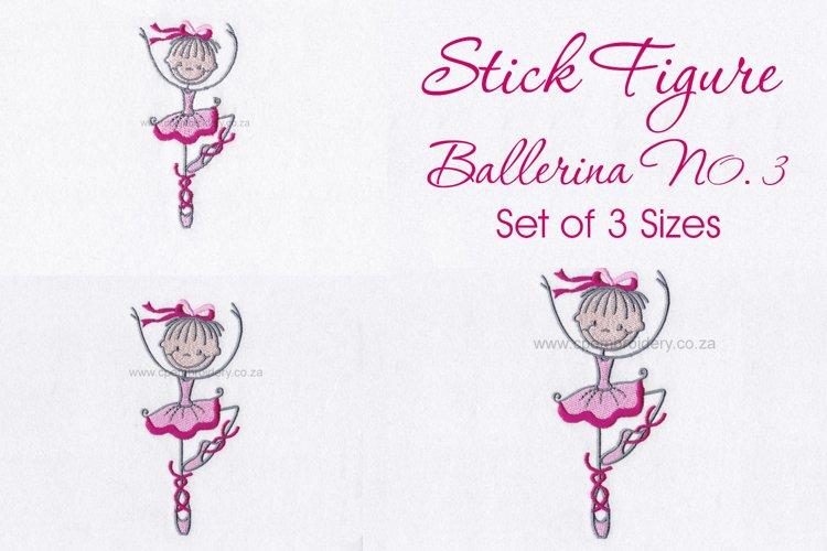 Stick Figure Ballerina No.3